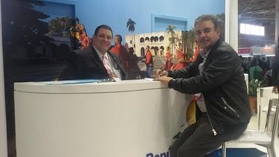 René Contreas y Luis José Chávez en el Festival de Turismo de Gramado