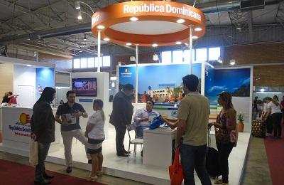 Stand de la República Dominicana en la Feria de Gramado, Brasil