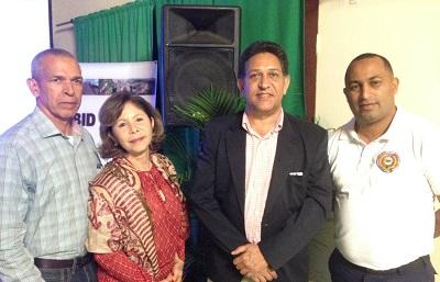 Raúl Almonte, María Victoria Castillo, Rafael Collado y Mayor Rodríguez