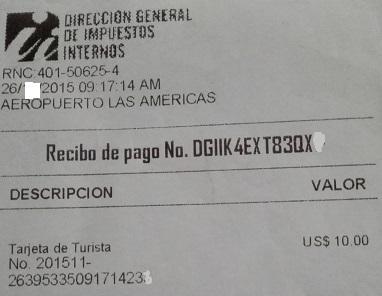 Resultado de imagen para tarjeta de turista de republica dominicana
