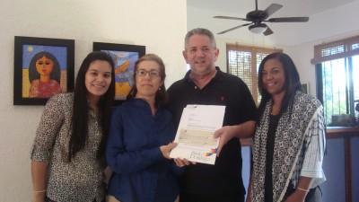 Sherei Estevez, Maribel Pichardo, Roberto Henríquez y Milagros de la Cruz